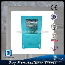 Fangda 36-in 1/2 polyuréthane lite injecté décoratif en acier intérieur en verre porte intérieure
