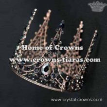 Crystal Full Round Birthday Cake Crown With Diamonds