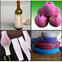 Filet protecteur adapté aux besoins du client de mousse d'EPE pour des bouteilles de fruits et de vin