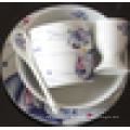 Nette dekorierte Lebensmittelsicherheit Porzellan 3 bis 5 Stück Keramik Geschirr Set Frühstück für Kinder gesetzt