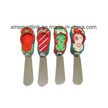 Decorative Flip Flop Resin Handle Butter Spreader
