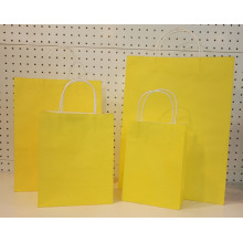 Żółty drukowany Twist Handle Gift Paper Bag
