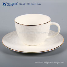 Plain White Logo Customized Wholesale Ceramic Bone China Coffee Tea Cup And Saucer Set, Cup Of Coffee