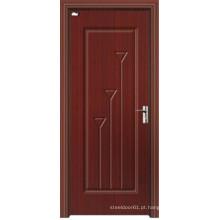 Portas de madeira de MDF laminado de PVC