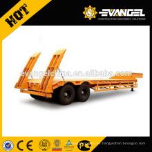 Las máquinas de ingeniería y construcción transportan remolque de carga baja 60 - remolque de plataforma baja de 80 toneladas para la venta