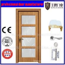 Precio barato de alta calidad de las puertas de madera interiores