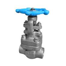 API 800lb válvula de portão de aço inoxidável com Stelite Sw / NPT