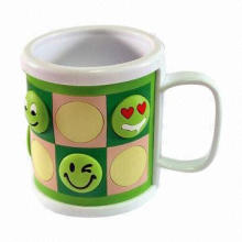 Colorful cartoon mug with different faces, suitable for gift, customized designs are welcome