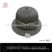 Fashion Paper Braided Cloche Hats