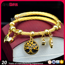 Made in china cheap metal alloy zinc charm bracelet
