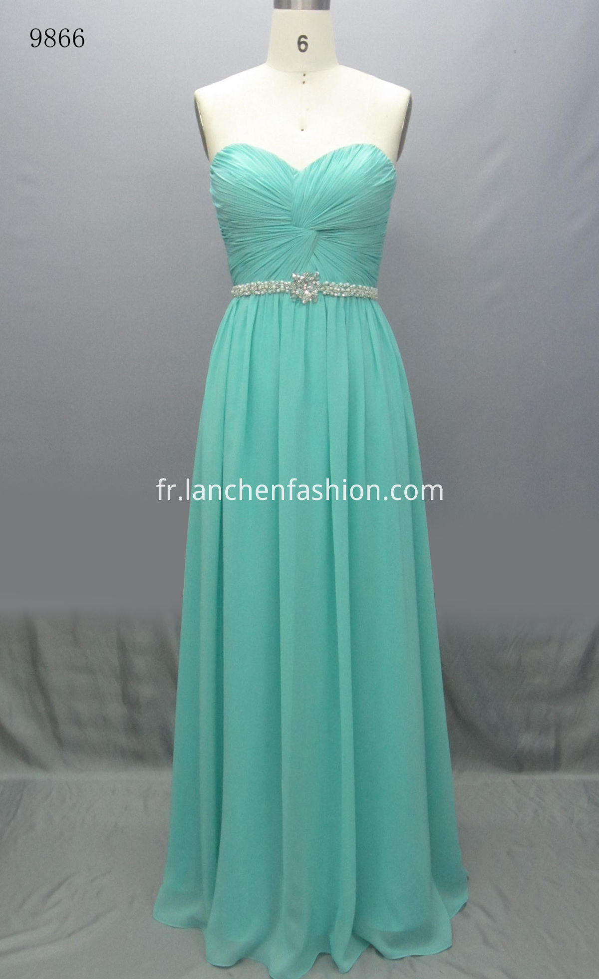 Long Bridemaid Dress AQUA