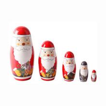 Arte y artesanía regalo de navidad de madera personalizada masha muñeca rusa