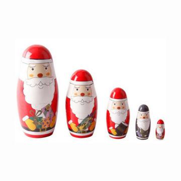 Art et artisanat cadeau de Noël en bois personnalisé masha poupée russe