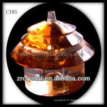 Belle bouteille de parfum en cristal C185