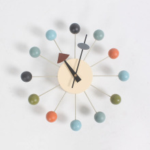 George Nelson Ball Clocks oleh Vitra dalam coloful