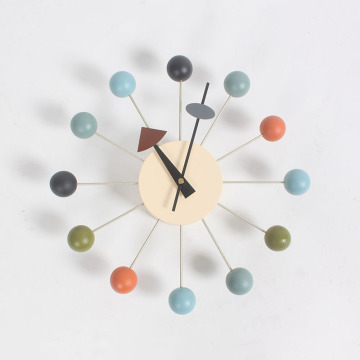 George Nelson Ball Clocks by Vitra in coloful