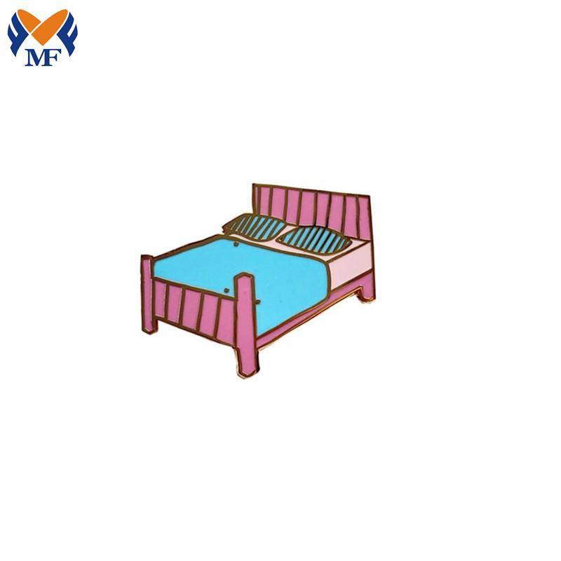 Bed Enamel Lapel Pin