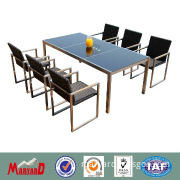 Stainless steel and rattan dining room furniture sets MY11IR59