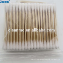 (Caliente) 3 '' (75mm) industrial doble cabeza terminó palillo de madera oreja limpieza bastoncillos de algodón bastoncillos