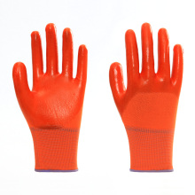 Nitrile Coated Smooth Finished Durable Safety Gloves