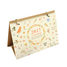 2017 Full Color Fancy Customized Printed Desk Calendar