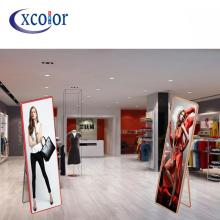 Indoor LED Frame Digital Poster for Standing Advertisement