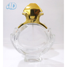 Ad-P263 Curved Spray Glass Transparent Perfume Bottle