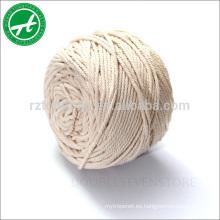 Cordel de algodón 100% natural con hilo de algodón para colgar en el macrame