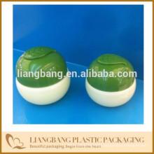 Green leaf jar baby jar with plastic packaging