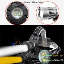 Dois LEDs Farol Um LED Branco + Um LED Amarelo