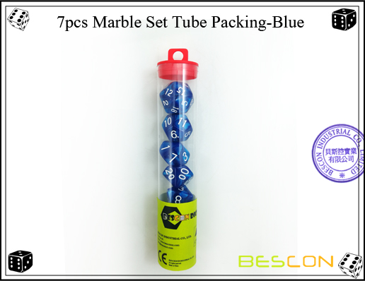 7pcs Marble Set Tube Packing-Blue