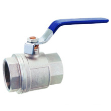 Vanne à bille en laiton F / F pn25, valve à bille en laiton J2001, chromé / nickelé
