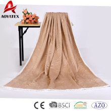 100% poliéster costura costura micromink sherpa cobertor
