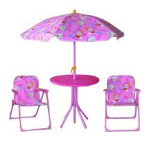 Niños plegables portátiles juegos de mesa y silla de jardín, sillas de jardín de plástico