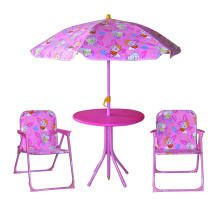 Enfants portables pliants table et chaises de jardin, chaises de jardin en plastique