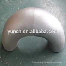 Gr2 90 degrés DN25 SCH40 tube d'induction en titane à vendre