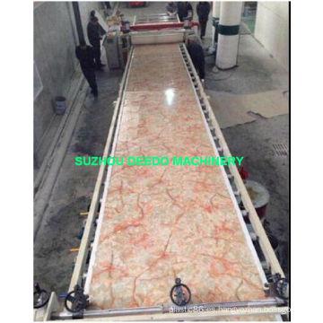 Equipo decorativo de mármol artificial del PVC que hace la máquina
