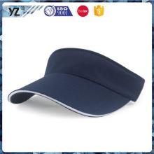 Vente en usine de conception personnalisée visière de sport pour hommes / capot / chapeau de pare-soleil avec bon prix