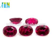Gemas de forma oval para fazer jóias zircônia cúbica