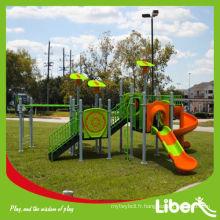 Équipement pour enfants bon marché Glisser l'équipement de terrain de jeu extérieur LE.QI.010