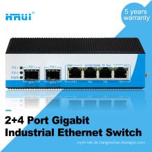 Unmanaged Gigabit 2 Sfp Port 4 Port Industrieschalter