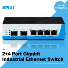 Gigabit non géré 2 port sfp 4 port commutateur industriel
