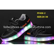 Новый дизайн флэш светящиеся светодиодные обувь дети светодиодные обувь (FF406-2)