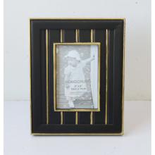 Черный MDF деревянная фоторамка с цветочным принтом