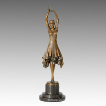 Danse Statue Pretty Girl Bronze Sculpture, DH Chiparus TPE-360