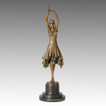Статуэтка танцовщицы милой девушки Бронзовая скульптура, DH Chiparus TPE-360