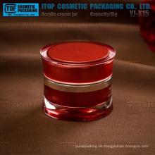 YJ-X15s 15 g stabile hochwertige Acryl Creme Gläser für Kosmetikverpackungen
