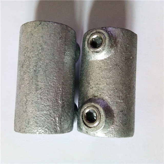 Malleable iron straight coupling Key clamp pipe fittings