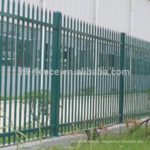 Cerca de piquete de aço de alta segurança, cerca de aço revestida do pó / zinco, cerca de aço tubular do zinco (fábrica ISO9001)