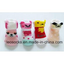 Chine Socks usine coton fantaisie et belle chaussettes enfant en bas âge de conception personnalisée bébé animaux